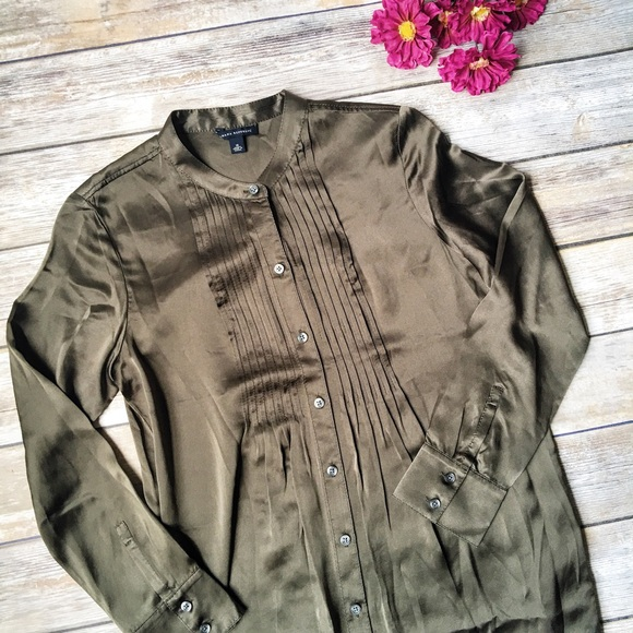 Banana Republic Lovely Silk Plus Size Shirtdress