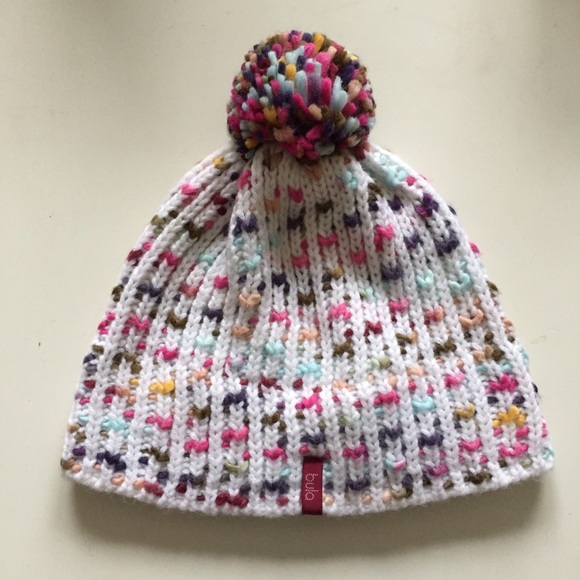 White knitted hat with Pom Pom. M 57e595b4713fde0b8f008b73. Other  Accessories ... 11c39e535c09