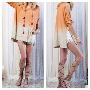 FashionBohoLoco Tops - LOWEST! Cold Shoulder Boho Cape Slip Dress NWOT