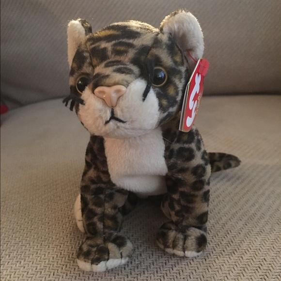 Ty Other Beanie Baby Leopard Sneaky Plush Animal Poshmark