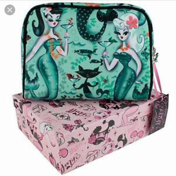 Miss Fluff Martini Mermaids Large Tote Retro Bag Purse