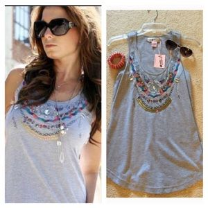 Grey Boho Tank - New with Tags