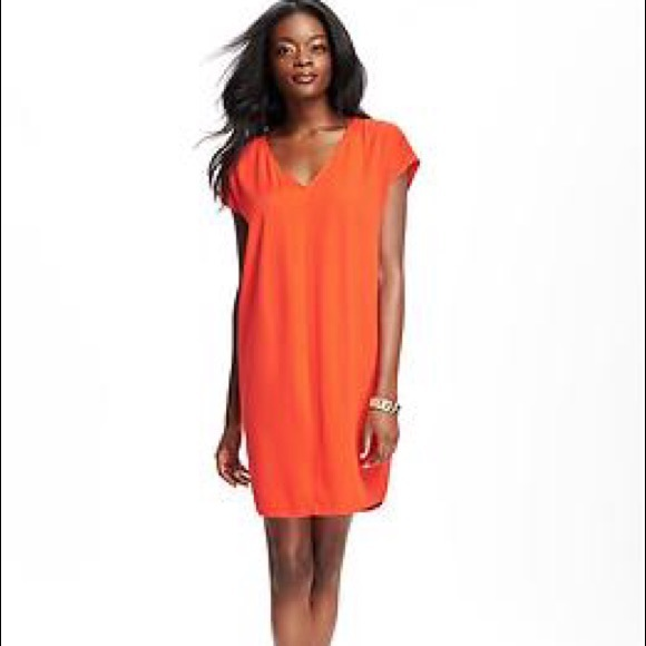 a394057d7bf3e NWT old navy cocoon dress   orange   size Med P