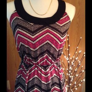 NWT maxi dress fitted elastic waist size M 7-9