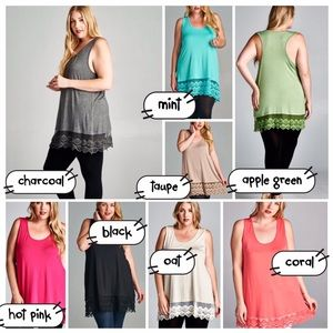 tla2 Tops - GORGEOUS LONGER CAMI EXTENDERS! 8 COLORS!