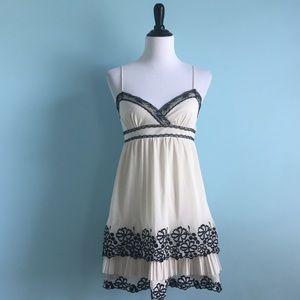 Chelsea & Violet Dresses & Skirts - Cream & Black Lace Dress