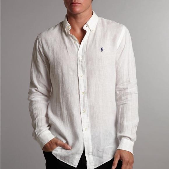c8768670e47d Brand New Men's Ralph Lauren Polo Linen Shirt XL. M_579242256a5830a9c601cc2c