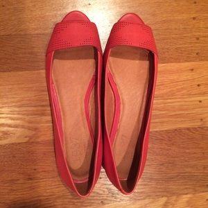 Madewell peep toe flats