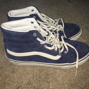HOLD Navy blue vans scotchgard sk8 hi.