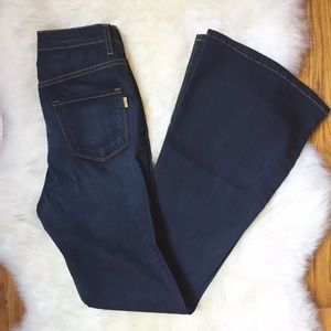 Vibrant Denim - Vibrant Dark Denim High Waisted Flared Jeans