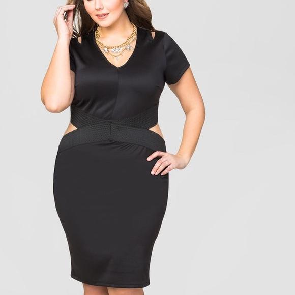 22f60b16980 Ashley Stewart side cut out mini dress. NWT