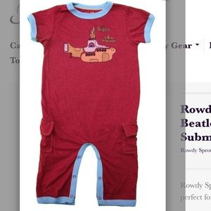 Rowdy Sprout  Other - Rowdy Sprout Beatles Yellow Submarine Romper