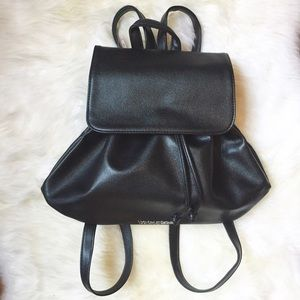 Victoria's Secret Handbags - Victoria's Secret Black Leather Backpack