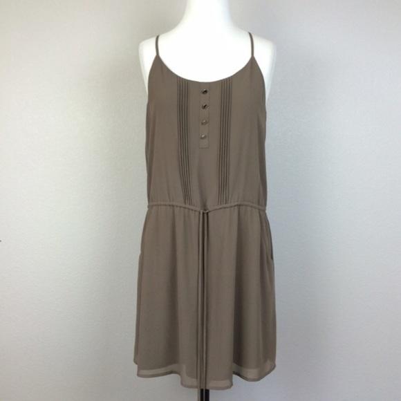 3b5566799c9f Naked Zebra Brown mid length dress. M 591961c58f0fc41c4111545b