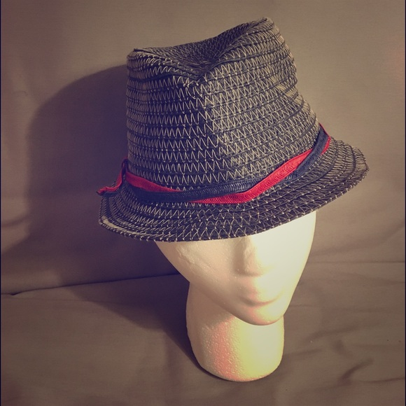 ... Straw blue Fedora Hat. M 57925fe52ba50a8c2f01fdc6 0dd6c22653c8