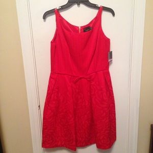 Just Taylor red dress -6-