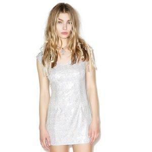 Hologram iridescent dress