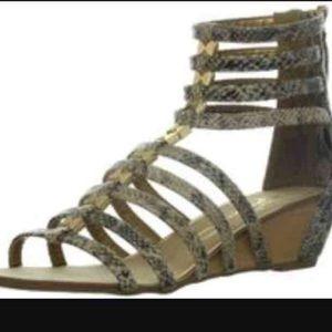 Report Signature Shoes - Snake skin print gladiator sandals flash sale