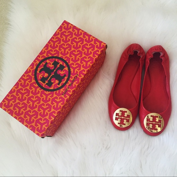 dc30eec65 AUTHENTIC Tory Burch Lobster Red Flats. M 5792660c36d594d406008302