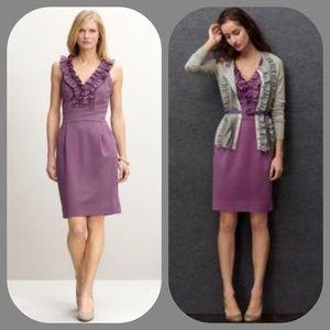 Banana Republic Dresses & Skirts - BR Lilac Ruffled Sheath Dress