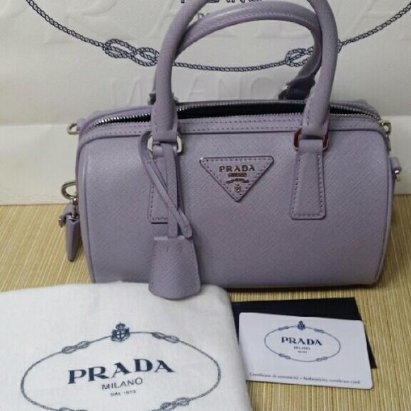 Prada Bags   Sold Sold Mini Bowler Cross Body Bag   Poshmark 4d29bfcd8c