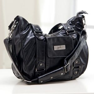Price lowered! JuJuBe Blk Earth Leather Diaper Bag