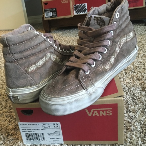 d3352026324 NEVER WORN! Sk8-Hi Reissue (over wash Paisley) NWT