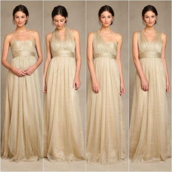 Jenny Yoo Dresses Annabelle Bridesmaid Dress Metallic Gold Poshmark
