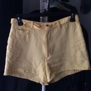 vintage yellow highwaisted shorts
