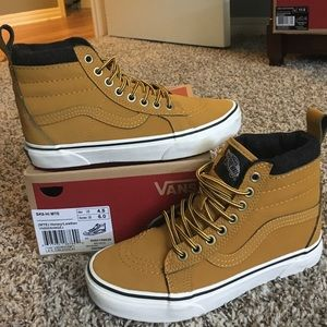 2a6e388ce5cd90 Vans Shoes - Sk8-Hi MTE Honey Leather Boot Timberland style