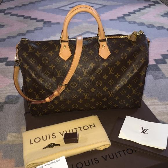 41e3073083 Louis Vuitton Handbags - Louis Vuitton Speedy Bandouliere 40 Bag With Strap
