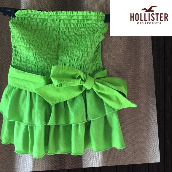 1a76bb47457 Hollister Strapless Tube Top With Sash. M 579289334e95a315cc00cd68