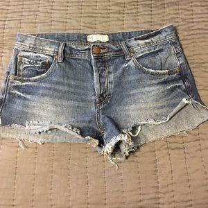 Free People Pants - Free People Cut Off Denim Shorts