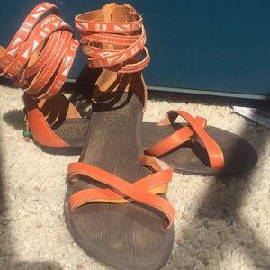 Nine West Aztec Lace Up sandals