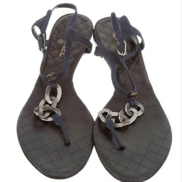 9f86b538b2ef73 Chanel Shoes - CHANEL CHAIN THONG SANDALS