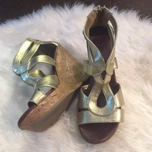 Dolce Vita Gold Wedges size 7.5