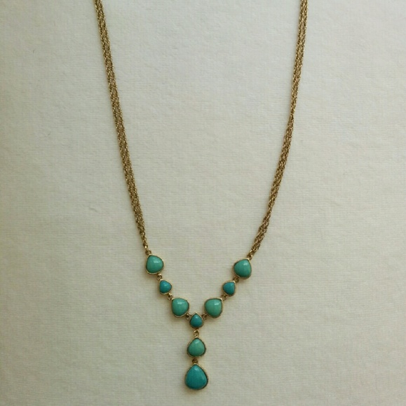 67 off jewelry costume jewelry gold turquoise necklace for Turquoise colored fashion jewelry