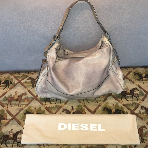 357ec458617e Diesel Handbags - 💯Diesel Distressed Grey leather bag NWT