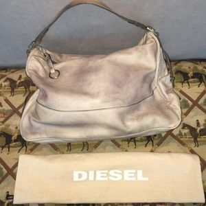 7be4090a1590 Diesel Bags - 💯Diesel Distressed Grey leather bag NWT