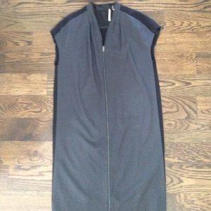 Tahari Size XS Wool Dress NWOT gray black