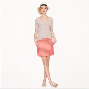 J Crew Striped Skirt