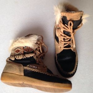 Tecnica Shoes - Tecnica REAL Fur and Leather Tribal Boots👢
