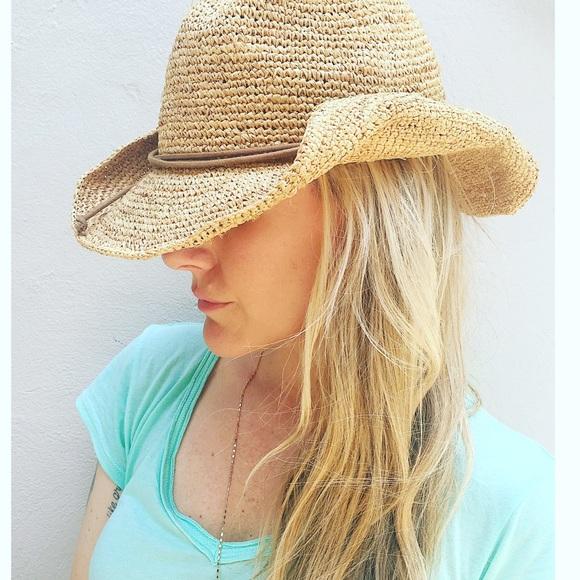 6eac10e3b0a Tarnish brand straw cowgirl hat. M 5792c413fbf6f9e005012e58