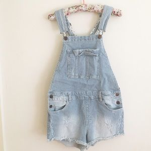 Forever 21 Denim - Stars and Stripes Denim Overalls