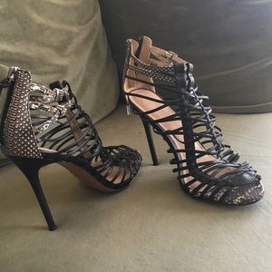 Peyton by L.A.M.B  sexy heels leather  snakeskin