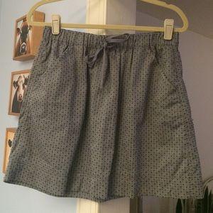Merona chambray denim embroidered dot skirt