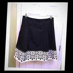 Christopher & Banks Dresses & Skirts - Figure Flattering Black & White Skirt