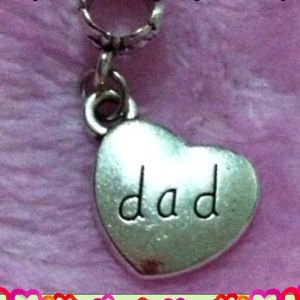 Jewelry - Dad heart charm