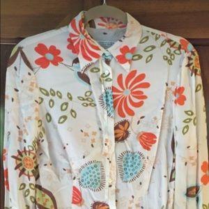 Massimo Rebecchi Tops - Massimo Rabichi Viamaggio silk floral print blouse
