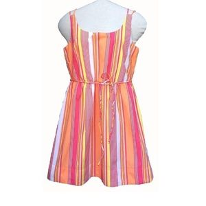 Anthropologie Tulle Colorful Striped Dress